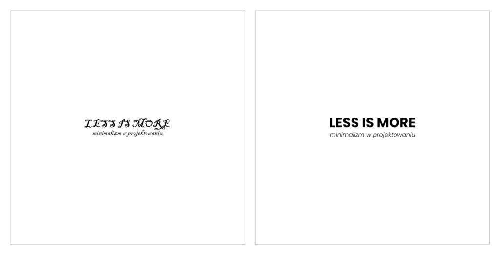Minimalizm wprojektowaniu_fonty