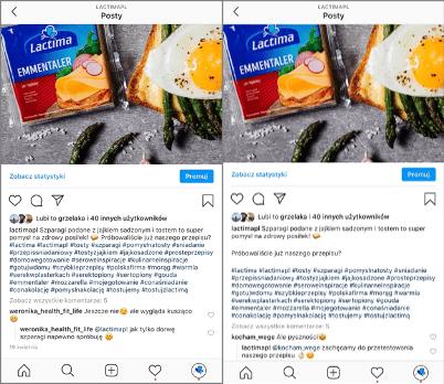 Efekt po zastosowaniu Spacie_narzędzia na Instagramie