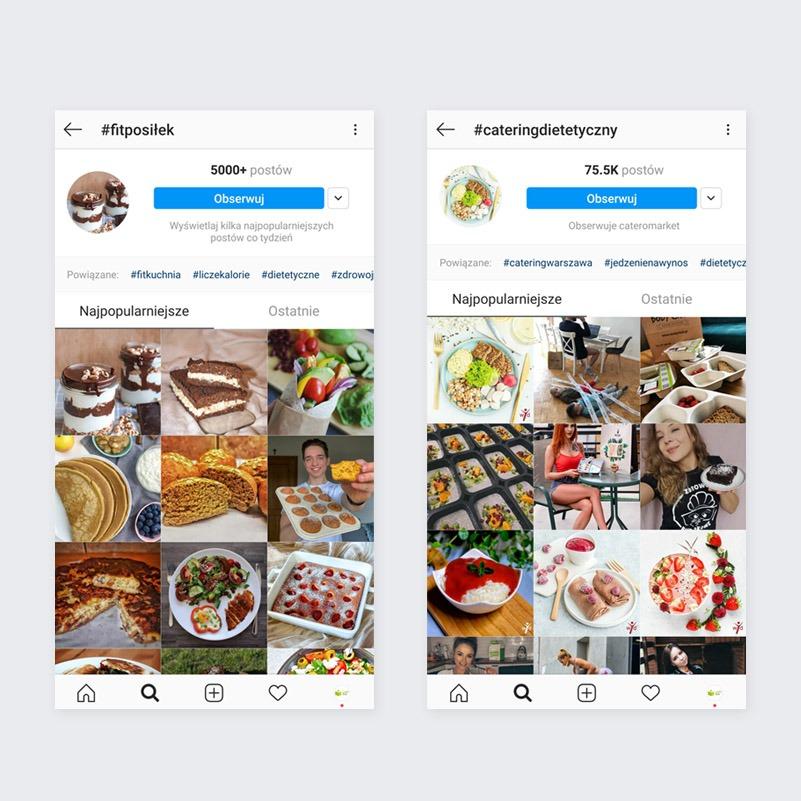 Powiązane hashtagi na Instagramie