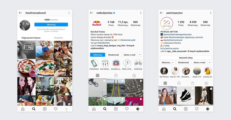 Wyszukiwanie brandowych hashtagów na Instagramie