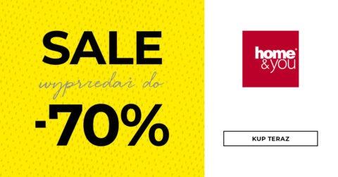 Baner z CTA promującym wyprzedaż w sklepie online