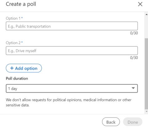 Posty na LinkedIn_Darmowe ankiety