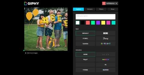Przygotowywanie GIFu w programie Giphy