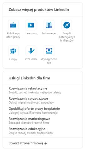 Miejsce tworzenia_strona firmowa na LinkedIn