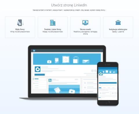 Wybór rodzaju_strona firmowa na LinkedIn