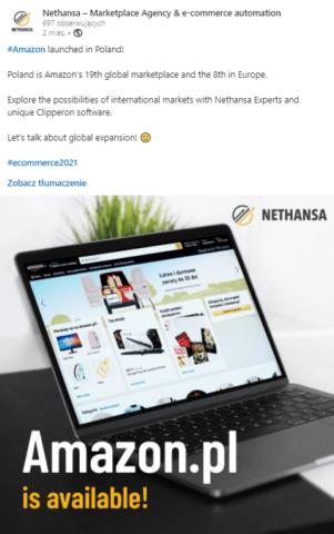 Profil firmowy Nethansy naLinkedIn_komunikacja B2B